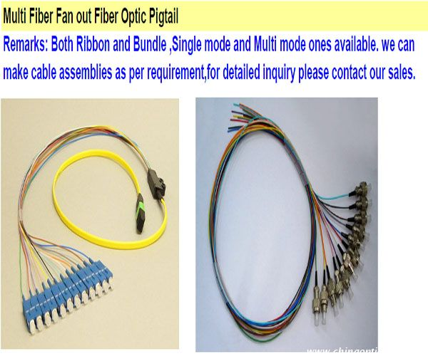 Multi Fiber Fan out Fiber Optic Pigtail