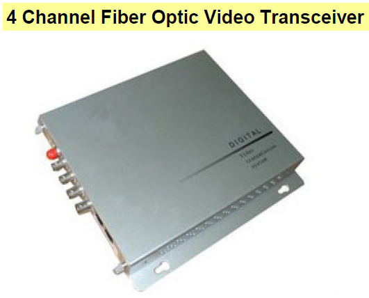 4 Channel Fiber Optic Video Transceiver