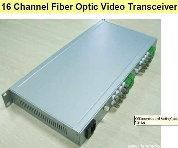 16 Channel Fiber Optic Video Transceiver