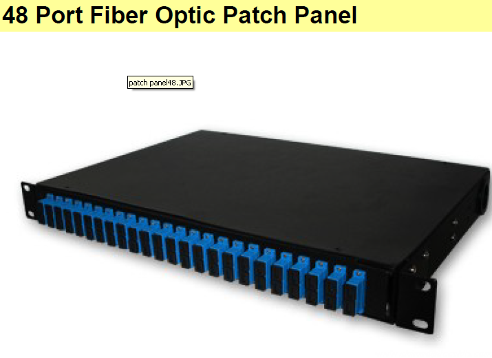 48 Port Fiber Optic Patch Panel